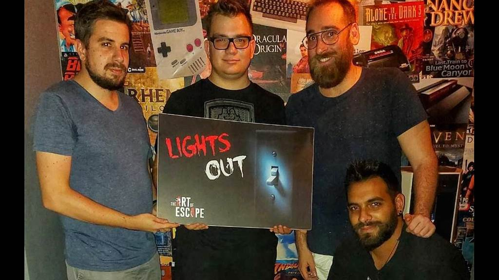 Lights out team photo